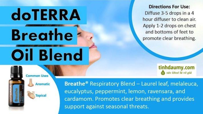 tinh dầu Hô hấp doterra Breathe chuyện hỗ trợ về đường hô hấp - Tinhdaumy.com