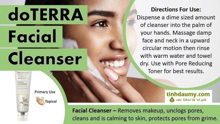 Sữa rửa mặt làm Sạch Da doterra Facial Cleanser - Tinhdaumy.com