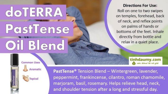 Công dụng và cách dùng tinh dầu doterra PastTense giúp giảm Đau đầu căng thẳng - Tinhdaumy.com