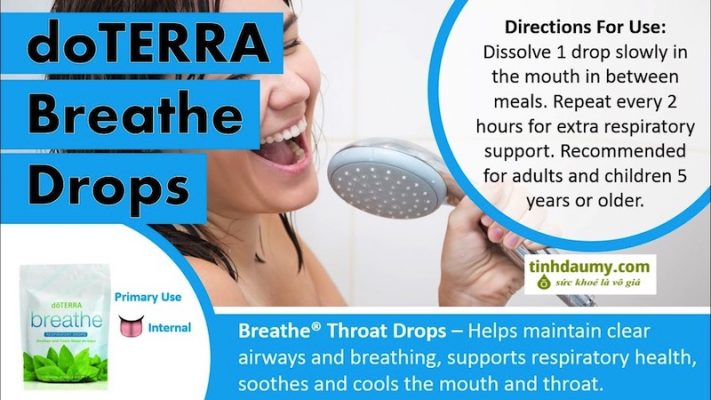 Viên Ngậm hỗ trợ hô hấp doterra Breathe Respiratory Drops